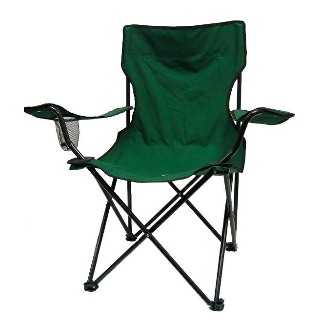 Chaise pliante, dossier haut, verte