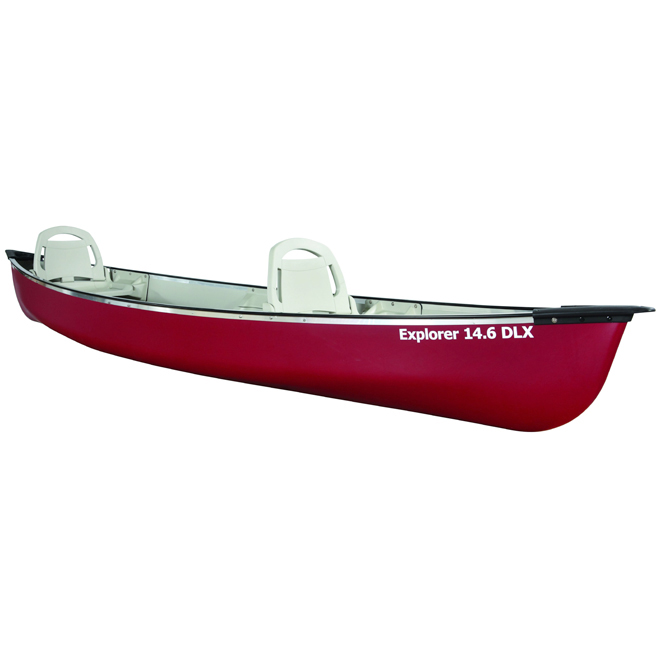 Aluminum Canoe - Explorer 14.6 DLX - 3 Person - 14'6""