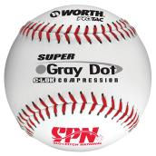 Slo Pitch Softball - Gray Dot - White/Red - 12