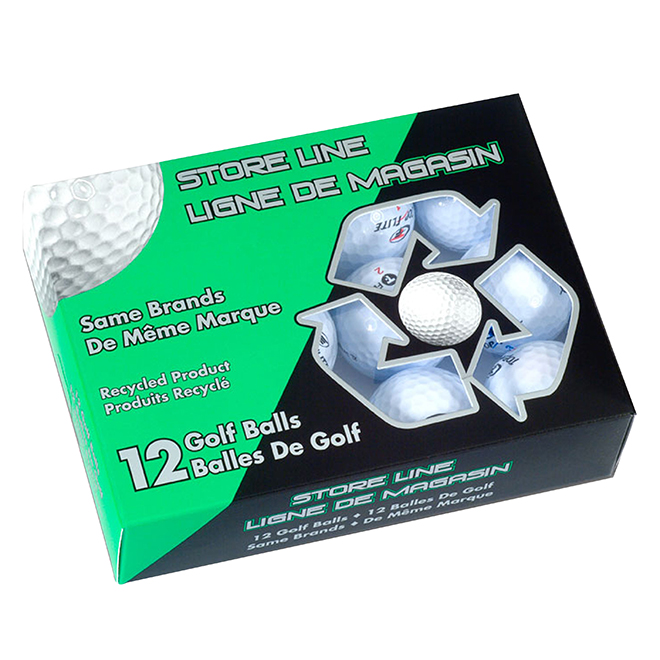 Balles de golf usagées haut de gamme, Callaway, paquet de 12