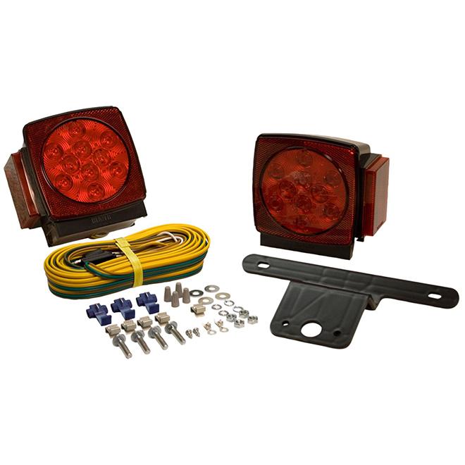 Ensemble de lampe de remorquage DEL, submersible, rouge