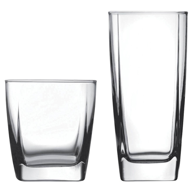 Set of 16 glasses - Clear