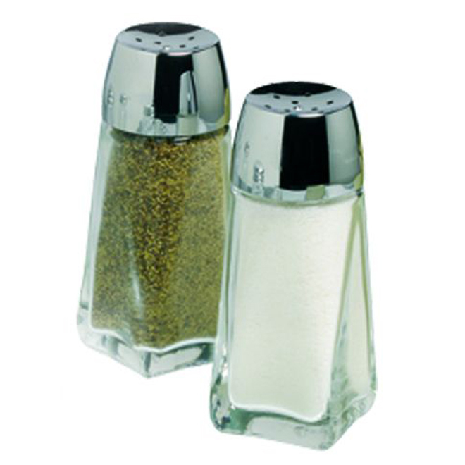"Salt/Pepper Shakers - 4"" - Glass"