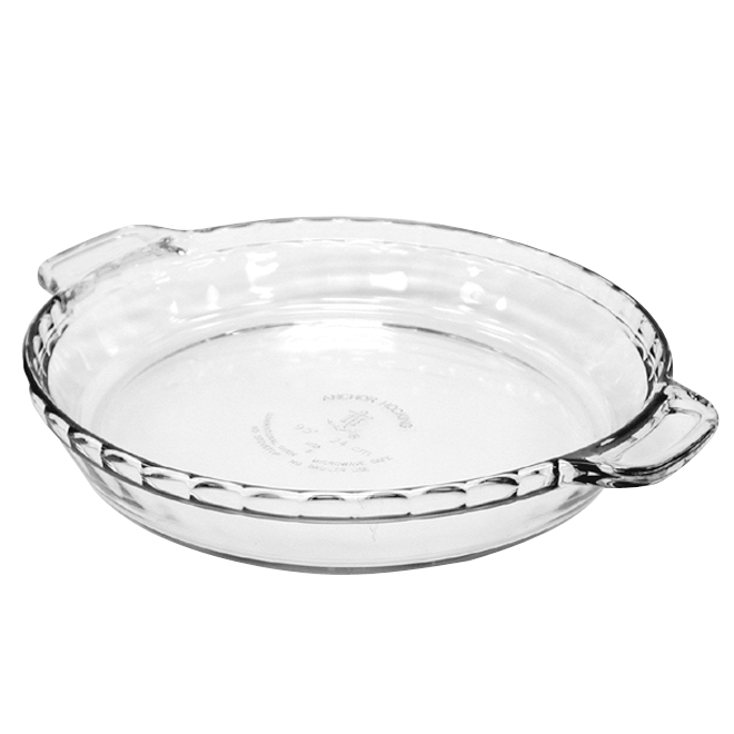 "Pie Plate - Glass - 1 5/8"" x 9"" - Clear"