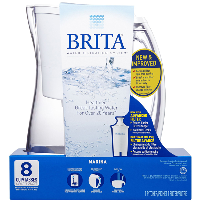 Brita® Pitcher with Electronic Filter - 8 cups