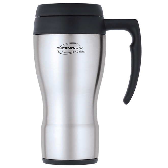 Insulated Travel Mug - 450 ml - Stainless Steel