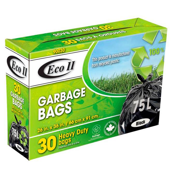 Garbage Bags - Pack of 30 - 75 L