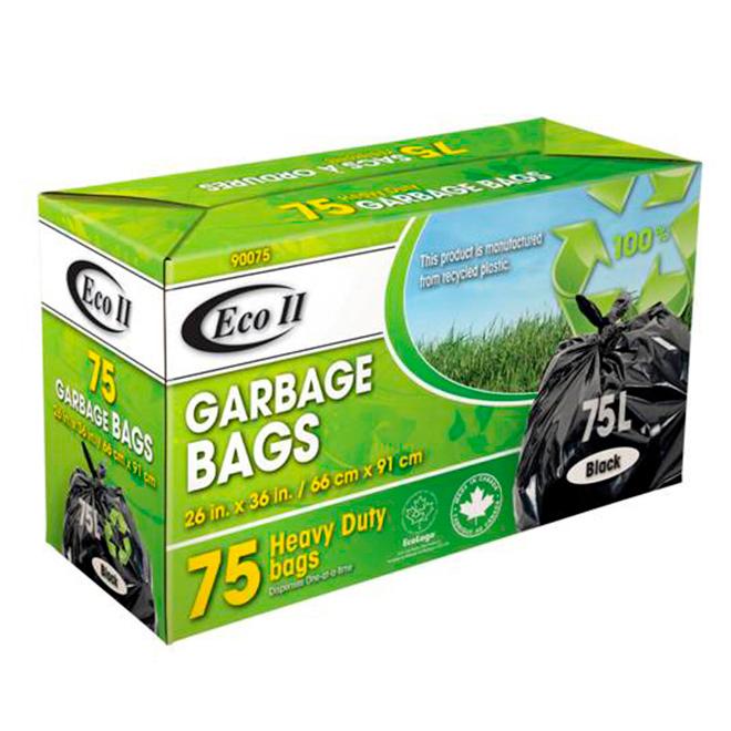 Sacs à ordures, paquet de 75, 75 l