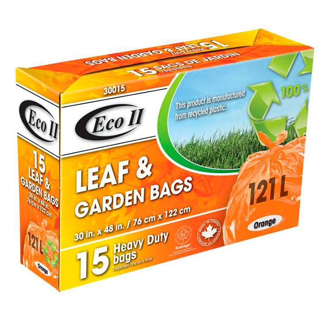 Sacs pour jardin/feuilles, paquet de 15, 121 l