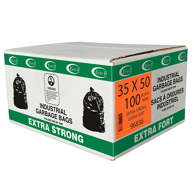 """Extra Strong Garbage Bags - 35"""" x 50"""" - Pack of 100"""