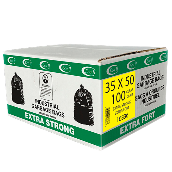 "Extra Strong Garbage Bags - 35"" x 50"" - Pack of 100"