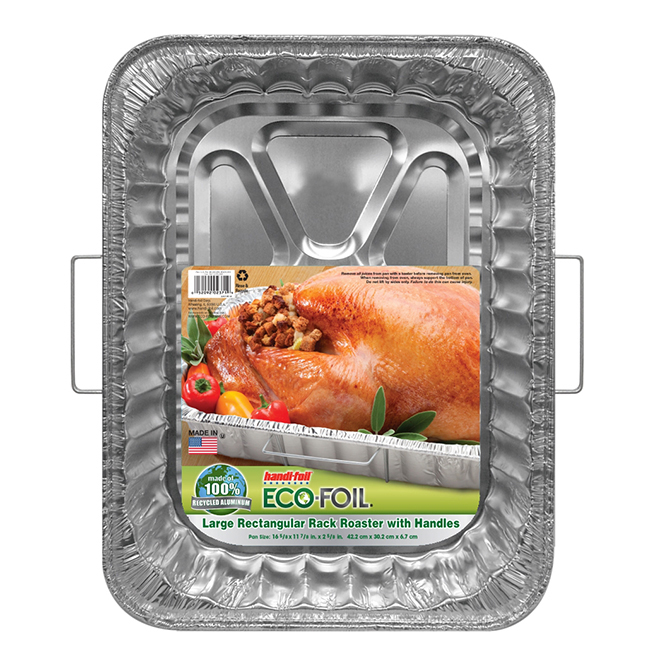 "Roast Pan with Handles - 16 1/2"" x 12"" x 2"" - Aluminum"