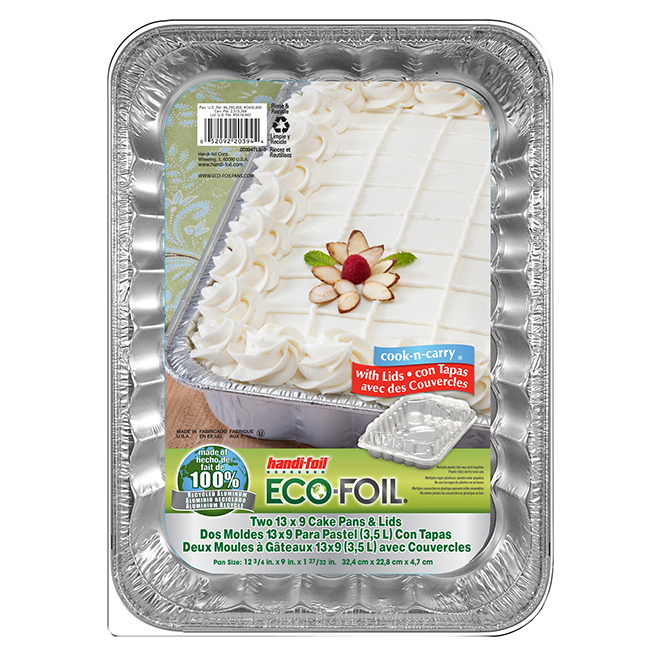 Moules à gâteaux avec couvercles, paquet de 2, aluminium