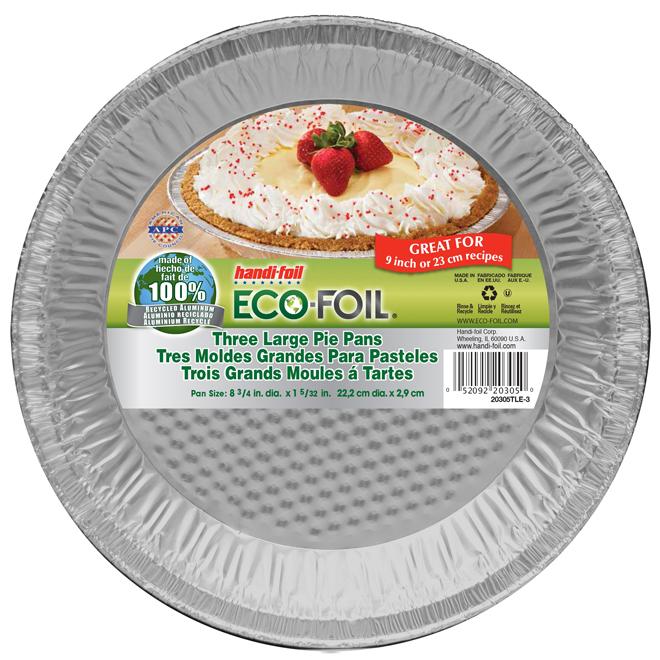 "Moules à tartes, paquet de 3, 9"", aluminium"