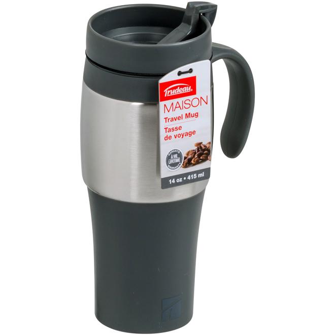 Travel Mug - Black and Silver - Mariner II - 415ml