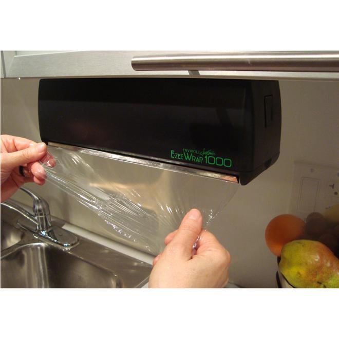 E-Zee Wrap Food Wrap Dispenser - Black
