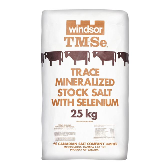 Sel minéral avec sélénium, 25 kg