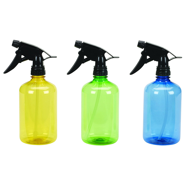 Plastic Spray Bottle Assorted Colors 16oz 4616 Rona