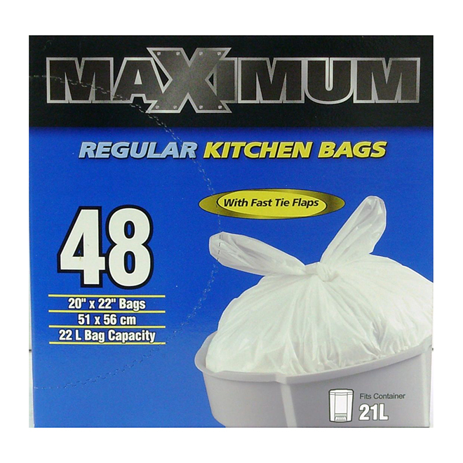 Regular Garbage Bags - Pack of 48 - 22 L