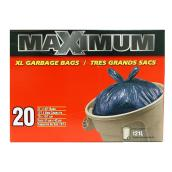 Très grands sacs à ordures, paquet de 20, 121 l