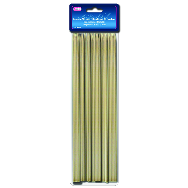 "Bamboo Skewers - 10"" - Pack of 100"
