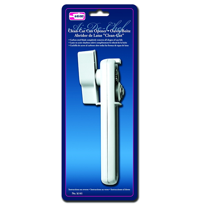 Ai-De-Chef Can Opener - Plastic/Metal - White
