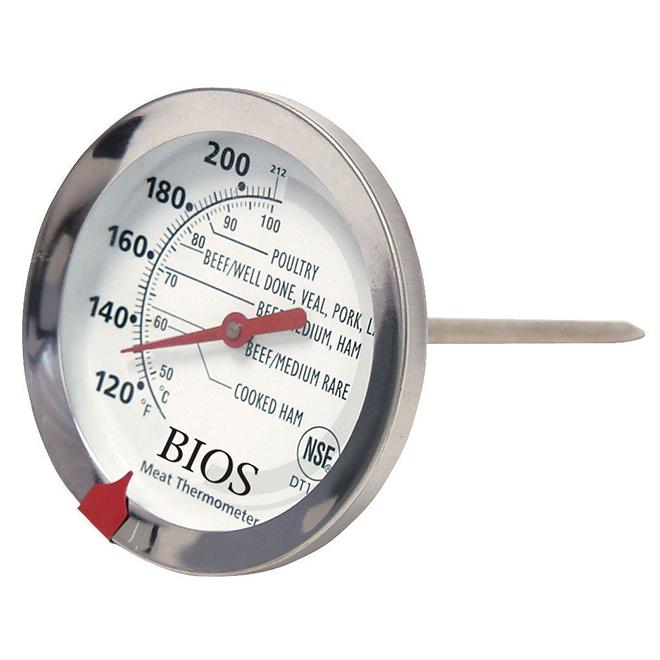 Thermomètre à viande, acier inoxydable