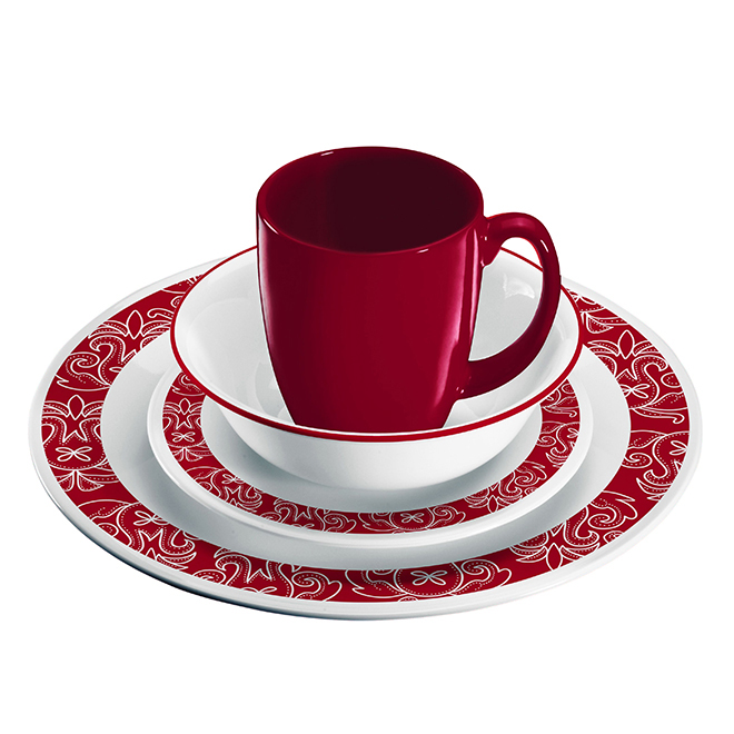 Bandhani Dinnerware Set - 16 Pieces