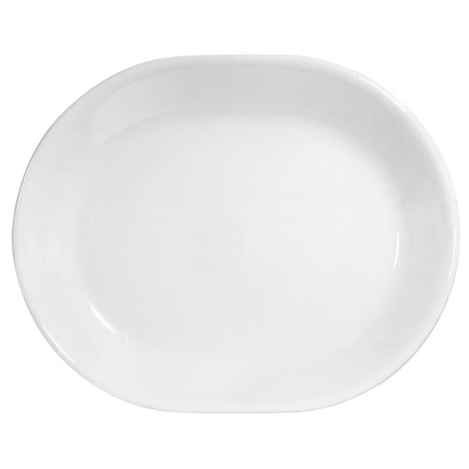 Winter Frost White Platter - 12 1/4'' x 10''