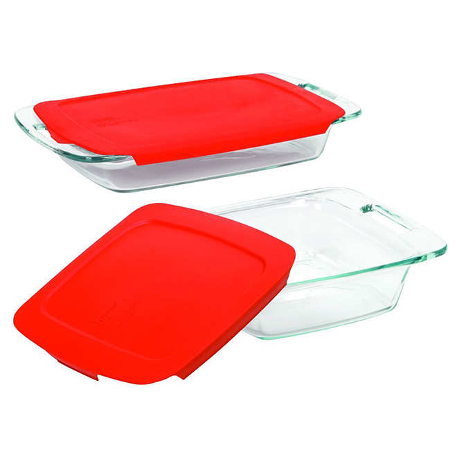 Glass Oblong and Square Baking Dish Set - 4-Pack