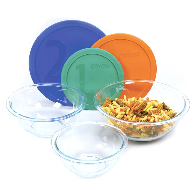 Glass Mixing Bowl Set - 6-Pack