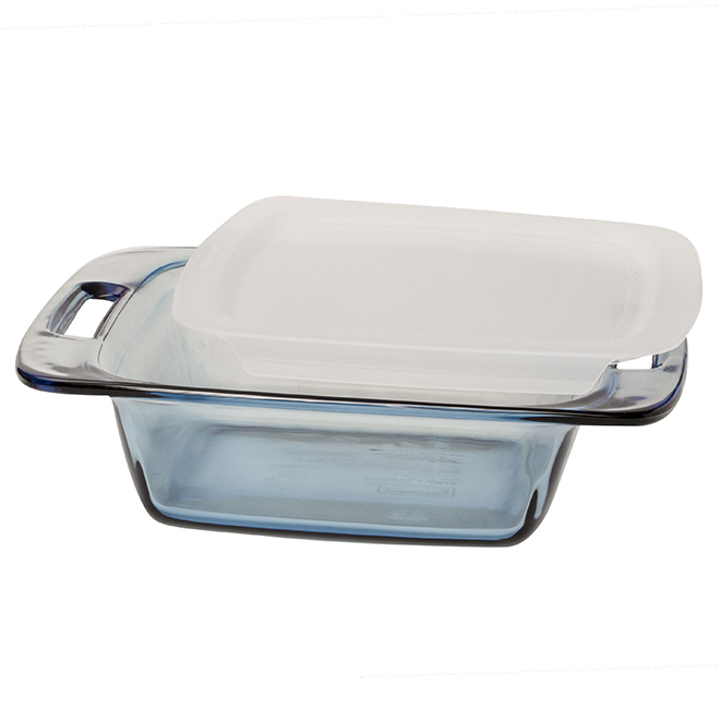 Square Bakeware with Lid - Blue - 8'' x 8''