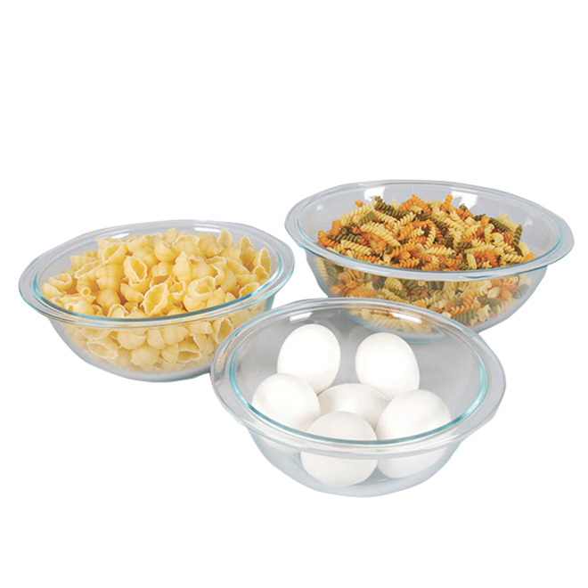 Glass Mixing Bowls - 3-Pack