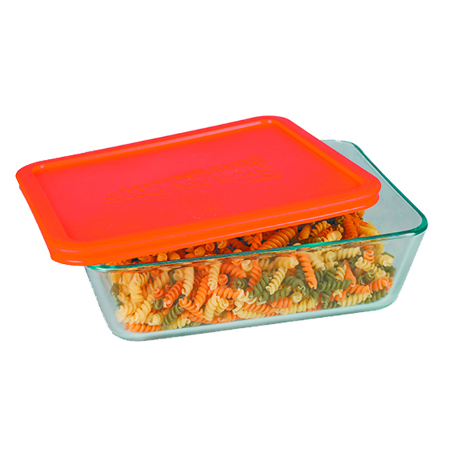 Glass Rectangle Storage Food - 11 Cup