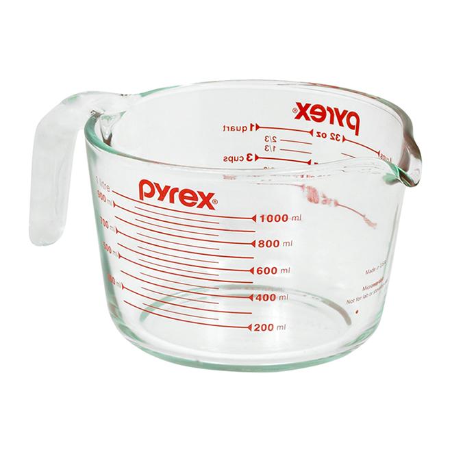 Tasse à mesurer en verre, 4 tasses