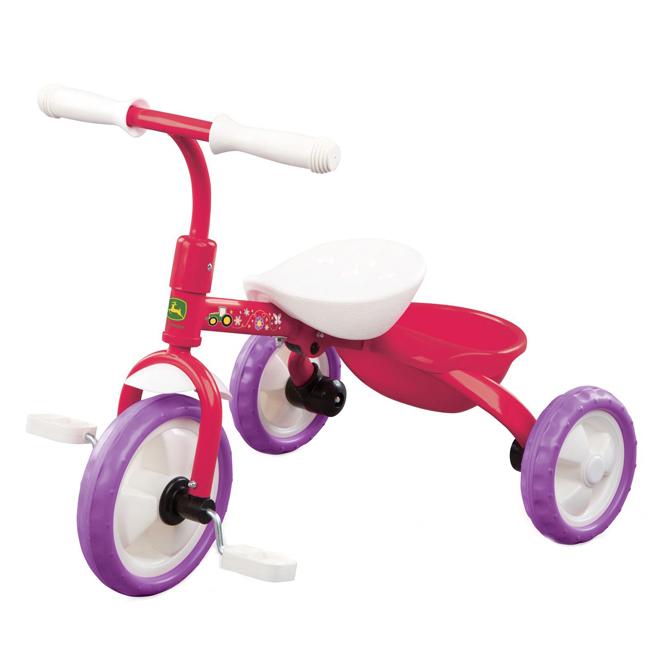 Tricycle pour enfant, John Deere, 2 ans et +, rose