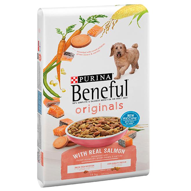 Nourriture sèche pour chien au saumon, 14 kg