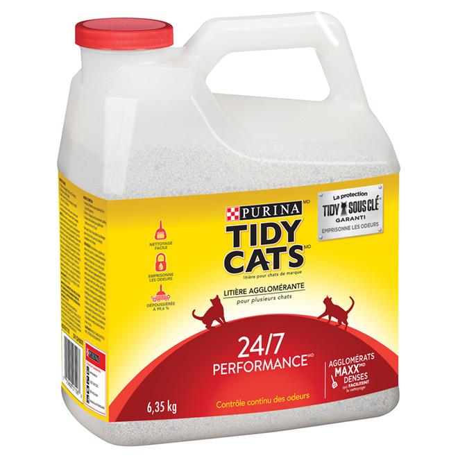 Litière agglomérante pour chat, performance 24/7, 14 lbs