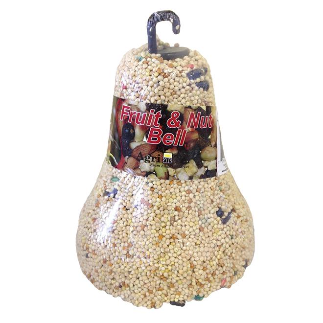 Cloche de nourriture pour oiseaux, fruits et noix, 454 g