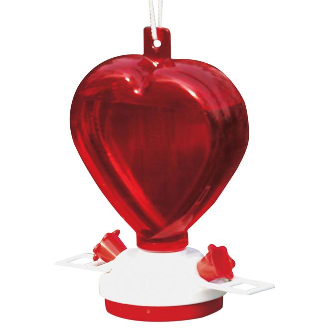 Heart Shaped Hummingbird Feeder - 12oz