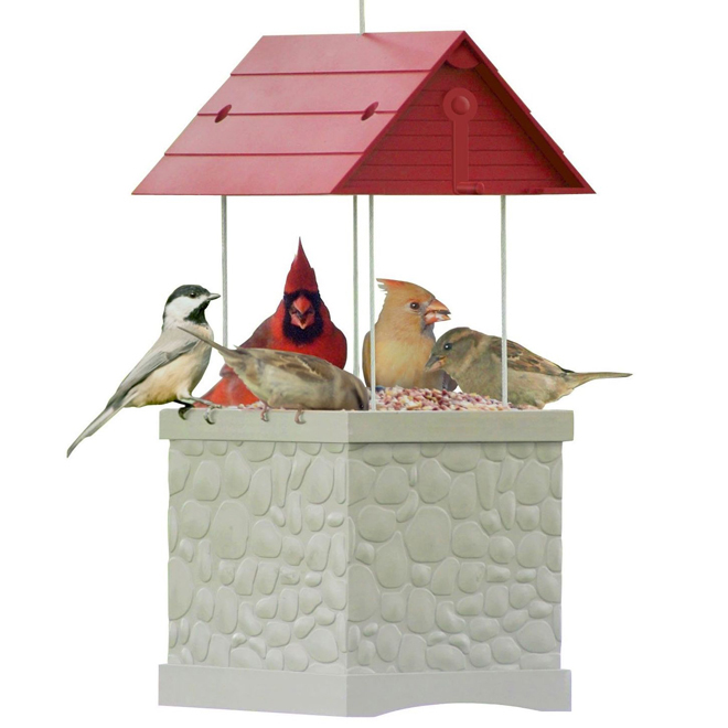 Bird Feeder - 5 lbs - Red/White
