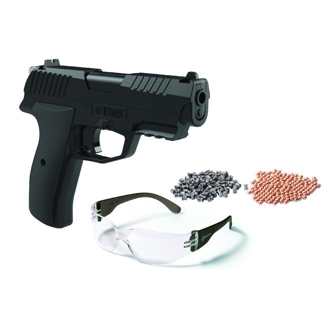 Pistol Air Gun - Iceman - CO2 Semi-Auto - BB/.177 Caliber