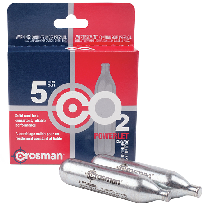 CO2 Powerlet Cartridges - 12 g - 5 Pack