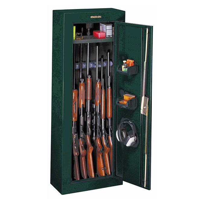 "Locking Steel Gun Cabinet - 8 Guns - 21"" x 10"" x 55"""