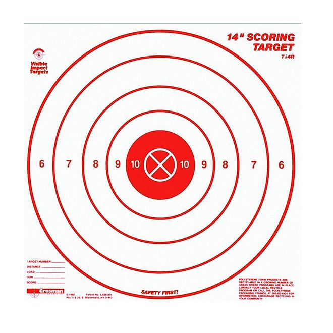 """Bull's-Eye Target - Polystyrene - 5 Rings - 14"""" - 3 Pack"""