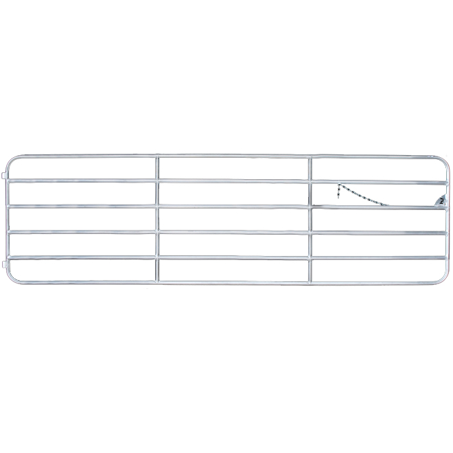 "Heavy-Duty Aluminum Gate - Diamond Bar - 6 Bars - 48"" x 14'"