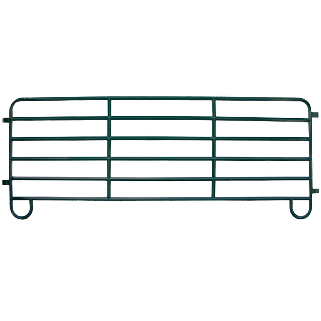 "Corral Fence Panel - Diamond Bar - 6 Bars - 14 GA - 57"" x 12'"