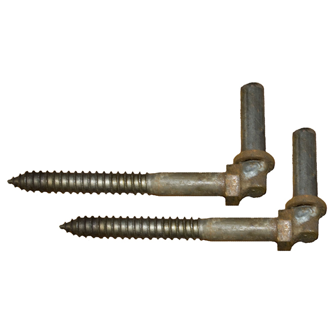 "Screw-In Hinge Lag Bolts - 3/4"" x 8"" - 2 Pack"