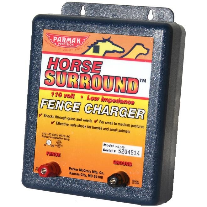 Fence Charger - Horse Surround - 8 km Range - 110-120 V
