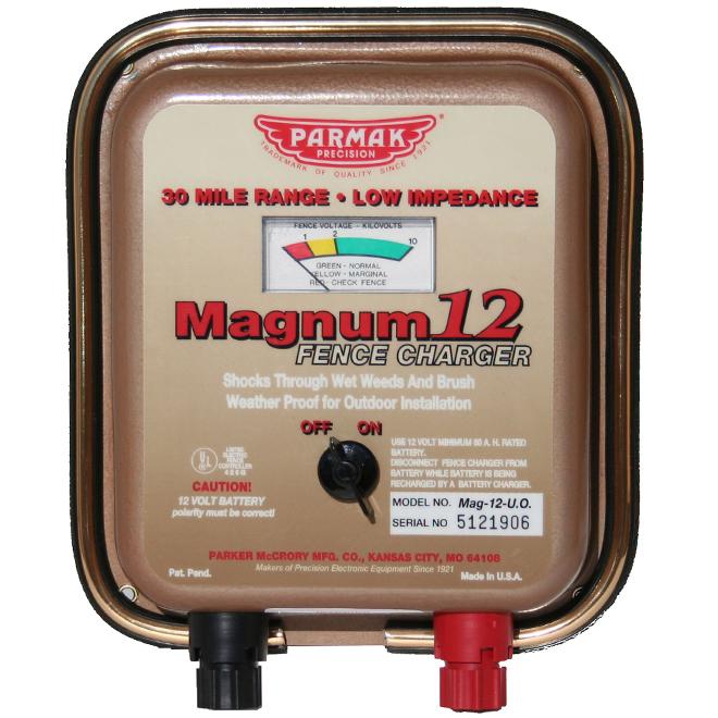 Chargeur de clôture électrique, Magnum 12, 48 km, 12 V